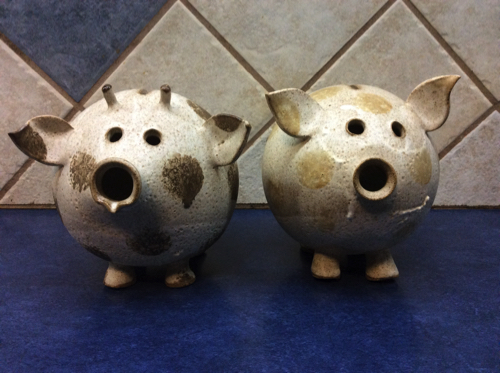 piggy and cow banks